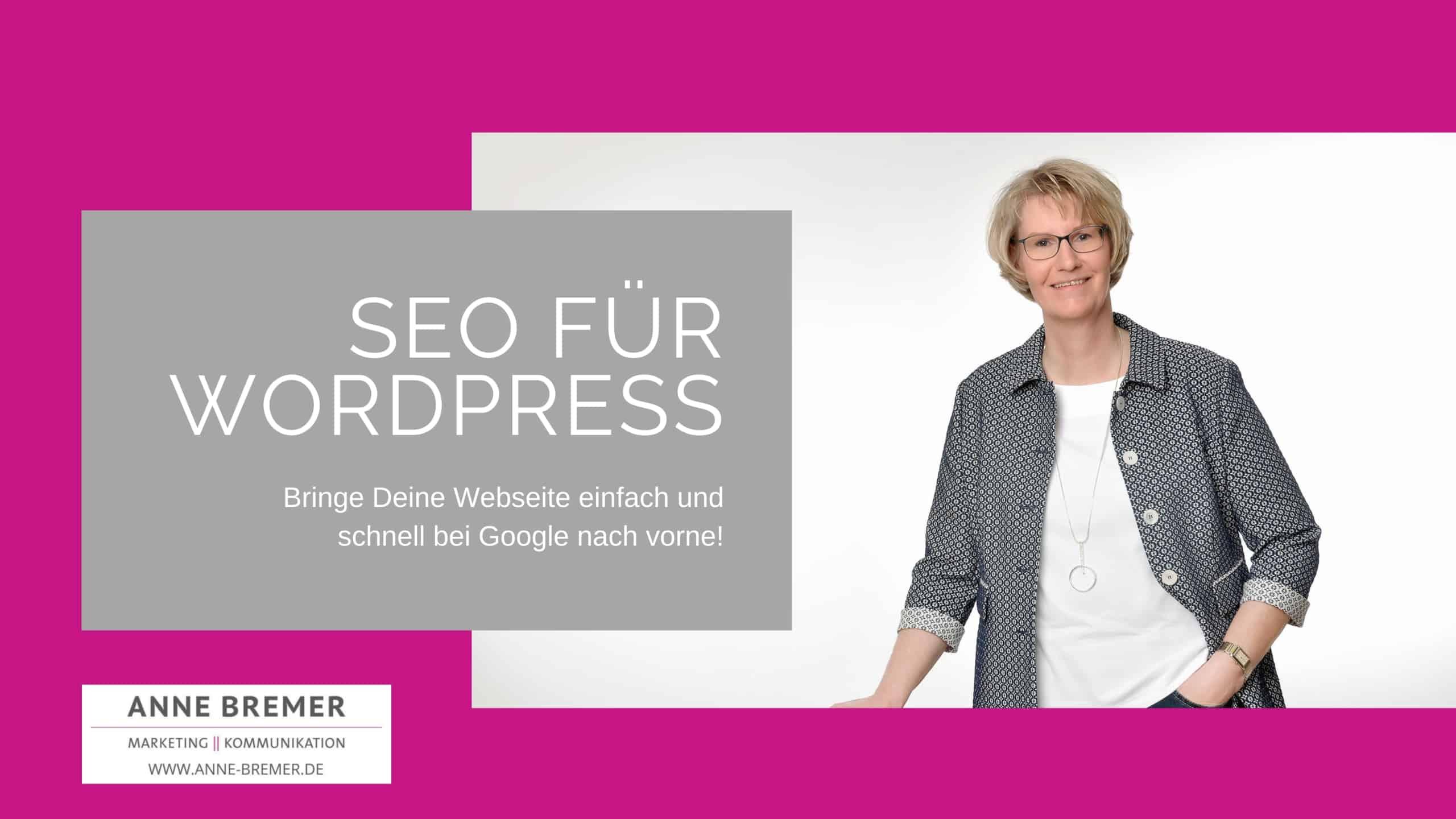 """Onlinekurs """"SEO für WordPress"""" - Einsteiger"""