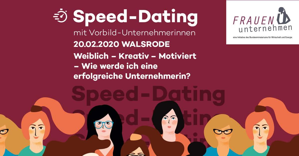 Speed-Dating mit Vorbild-Unternehmerinnen am 20.Februar2020 im Hotel Luisenhöhe in Walsrode: Ich bin dabei!