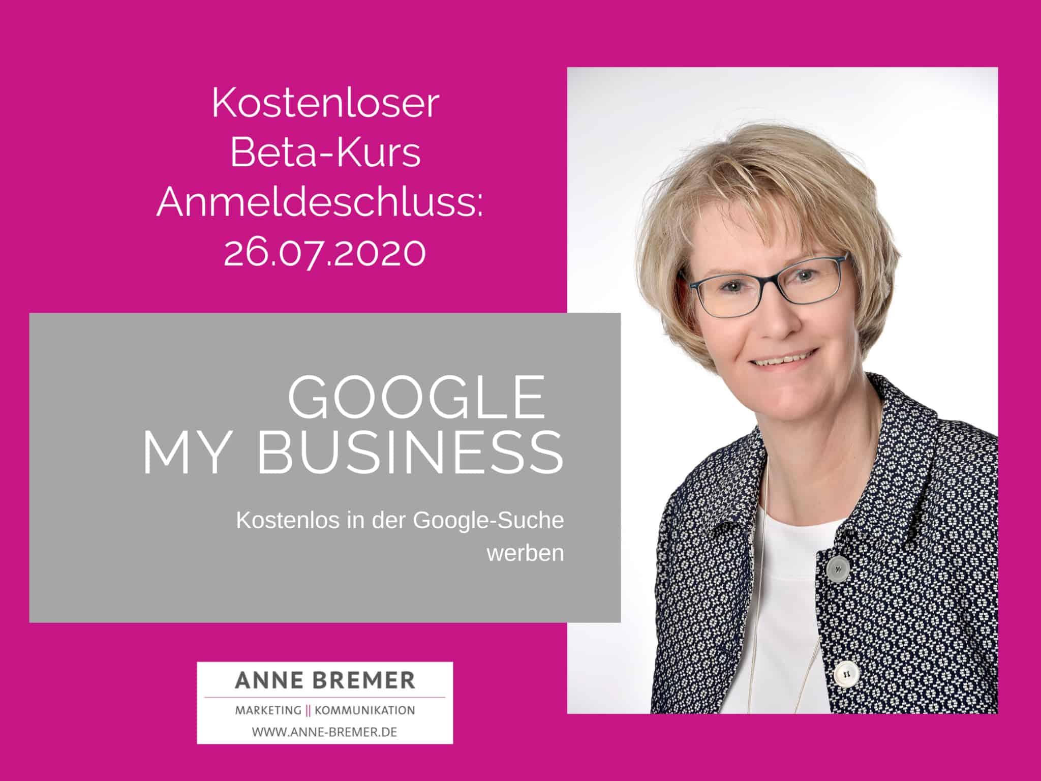 """Jetzt anmelden: Online-Kurs """"Google My Business – Kostenlos in der Google Suche werben"""""""