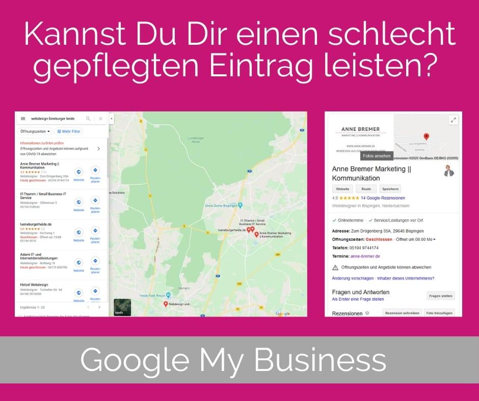 Kannst Du Dir einen schlecht gepflegten Google My Business-Eintrag leisten?