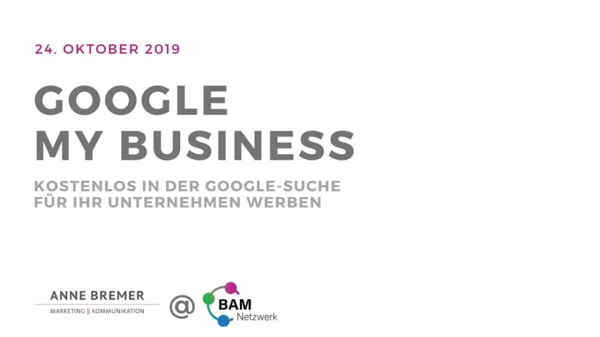 "Präsentation ""Google My Business"" - Deckblatt"