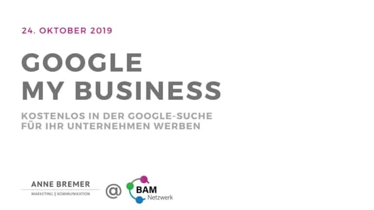 "Präsentation ""Google My Business"" - Deckblatt"