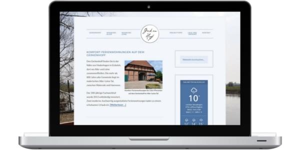 Screenshot www.fewo-gerkenhoff.de - Referenz von Anne Bremer Marketing || Kommunikation