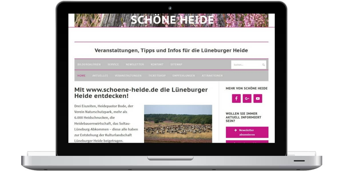 Screenshot www.schoene-heide.de - Projekt von Anne Bremer Marketing // Kommunikation